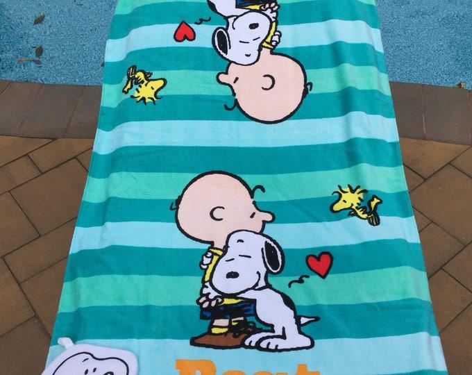 Peanuts Best Friends Bath Towel set - Personalized Charlie Brown Snoopy Towel set