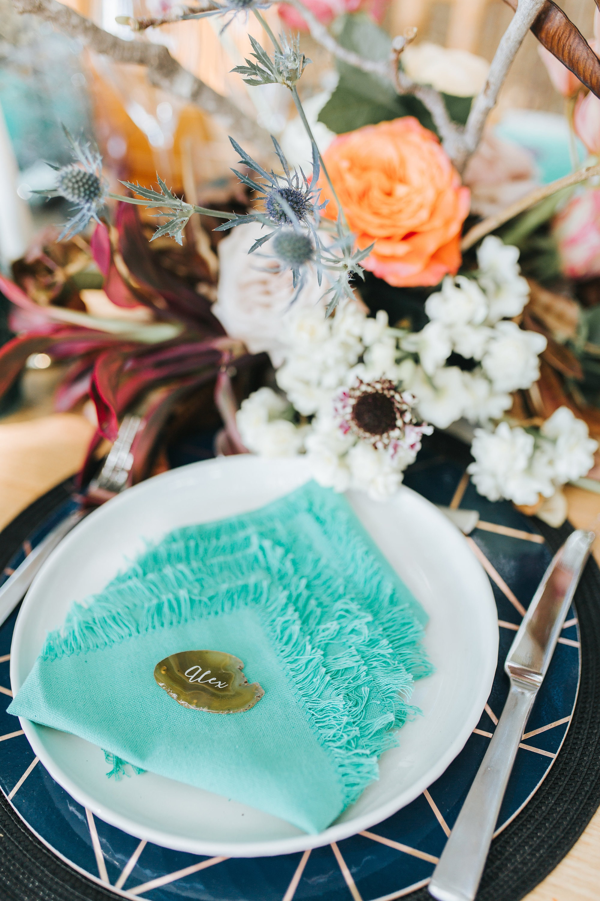 agate place setting.