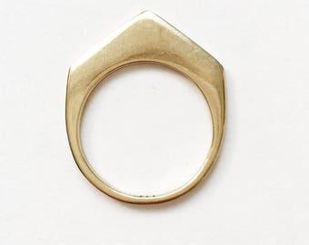 Artemis Arrow Skinny Stack Ring