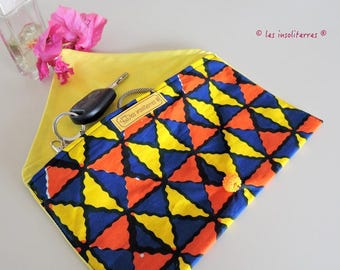 2 African wax print cover Super chic and fashion multicolor printed wax lined tassel