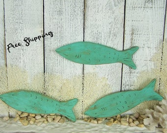 Wooden Fish Wall Art wooden fish wall art nautical wall art striped pallet fish