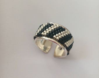 Sterling Silver weaving peyote ring