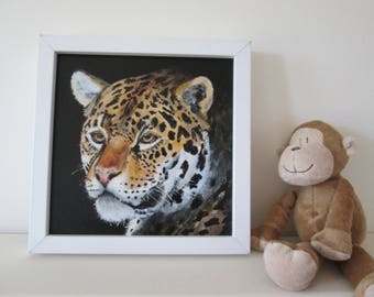 leopard art / cougar, cheetah, jungle animal art, original painting, Africa art, african wildlife, home decor, wall art, gift for cat lovers