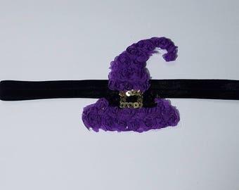Witch Hat Headband, Baby Headband, Toddler Headband, Fall Headband, Hard Headband, Fall Headband, Black Headband