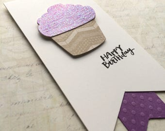 Gift Tag / Happy Birthday / Watercolor / Cupcake