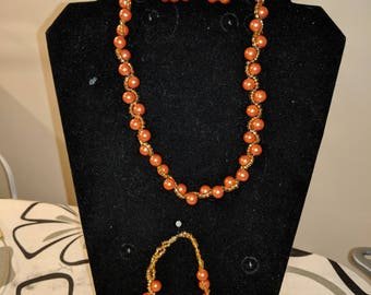 African, ankara, african inspired beaded necklace