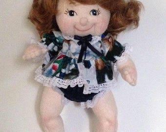 "13"" Becky Cloth Doll (not a pattern)"