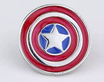 Captain America Shield Brooch Avengers Jewelry
