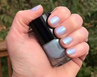 HEATHER - Icy Blue Color Stardust Doctor Who Inspired Nail Polish - Bliss Scented - 5-Free & Cruelty Free