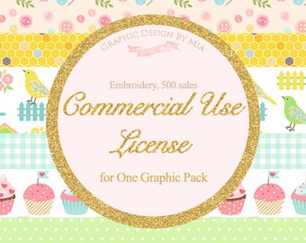 Embroidery License - 1 Project, up to 500 sales