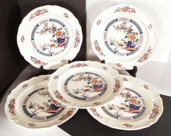Wedgwood Chinese Teal Luncheon Plate (s) LOT OF 5 Retired 1988
