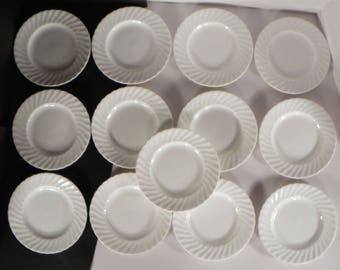 Royal Worcester Snowflake Bread and Butter Plate (s) LOT OF 13 White Bone China