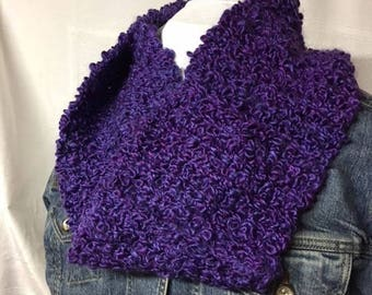 """soft """"loopy"""" crocheted cowl"""