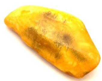 Amber Baltic Brooch Antique Unique 13.91 Gr Natural Genuine Egg Yolk Color Fantastic Stone