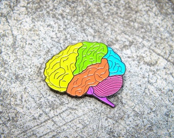 Parts of the Brain - HAT PIN