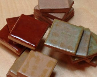Craftsman glaze samples, Bungalow Welcome Signs tile samples, Bungalow glazes