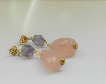 Quartz Nugget Earrings A01671