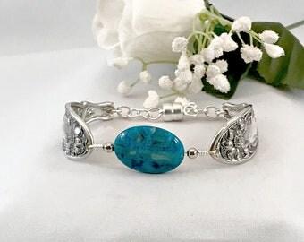 Best Selling Item Jewelry, Blue Agate Gemstone Jewelry Bracelet for Women,  Silverware Bracelet, Summer Jewelry Womens Jewelry , Mothers Day