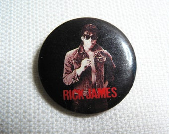 Vintage 80s Rick James - Can't Stop Single (1985) - Pin / Button / Badge
