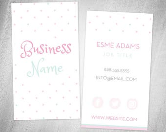 Premade Business Card Design • Polka Dots