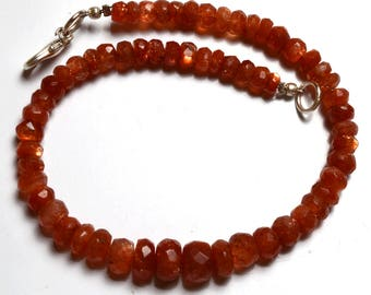 Natural Beads AAA quality 8 Inch Strand Super Finest-Quality-SUNSTONE Faceted Rondelle Beads bracelet 4 TO 6 mm size