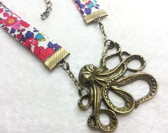 Bronze Liberty necklace the Red Octopus