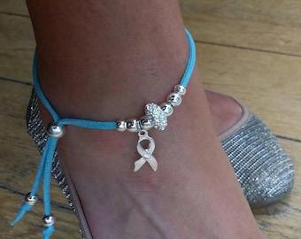Stunning Hope charm anklet