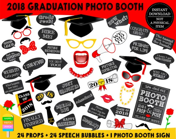 Sly image with printable graduation photo booth props