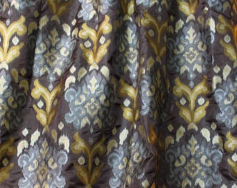 Designers Guild, Green, Brown and Grey Woven Silk, Curtain and Upholstery Fabric, From Jane Hall Design