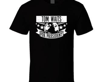 Tom Waits For President Rock And Roll Hall Of Fame T Shirt