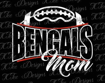 Bengals Football Mom - Custom SVG Design Download - Vector Cut File