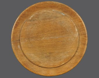 Mid Century Danish Round Wooden Serving Tray Made In Denmark MCM Modern Decor Wood