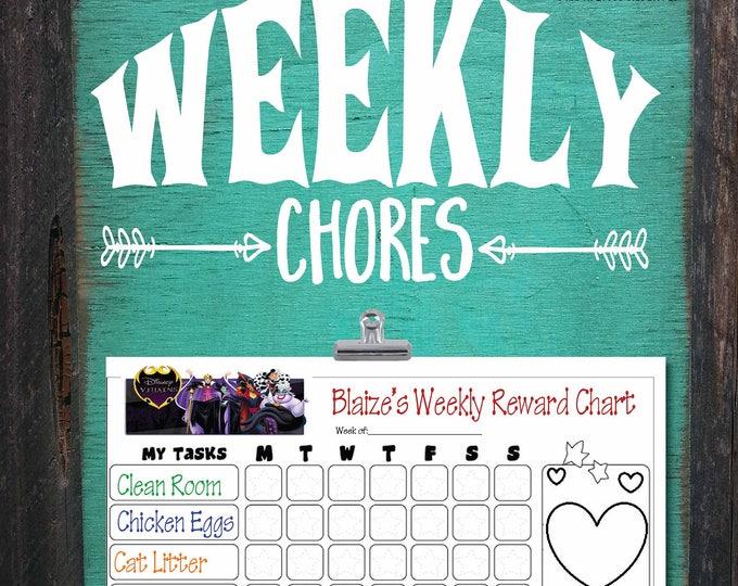 chore chart, chore board, kids chore chart, chore list, weekly chore chart, chores, weekly chore