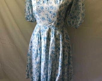 50's Cute Floral Cotton Dress