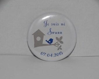 Badges birth birdhouse bird