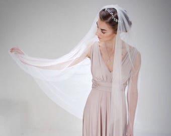 Fingertip wedding veil, Short wedding veil,