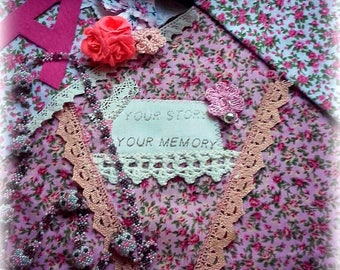 MEMORY Bunting/Deluxe Made to Your Memories/banner/garland/personalized /heirloom/tailor made/new baby/baby shower/christening gift/vintage/