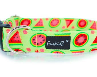 Dog's Collar - Yummy Watermelon, High Quality, Exceptional Gift, Unique dog accessories, Handmade