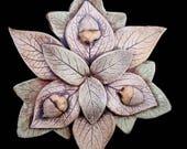 Stoneware Woodland Nature Mandala Plaque
