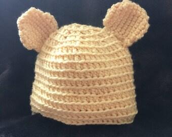 Baby Bear Hat- hand crochet
