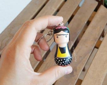 Frida Kahlo keychain / Frida Kahlo 3,3 inches