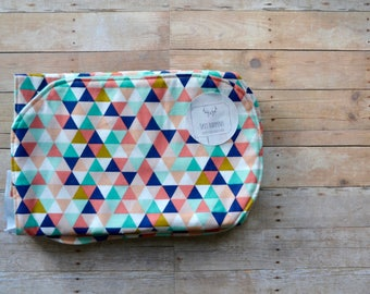 Burp Cloth - Triangle Burp Cloth - Gender Neutral Burp Cloth - Geo Patterned Burp Cloth - Burp Cloth-  Baby Burp Cloth - Baby Boy Burp Cloth