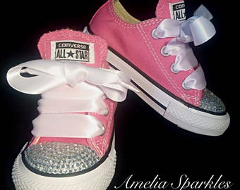Pink Baby Bling Converse **READY TO SHIP!!!** Infant Toddler Size 4 Sale!!
