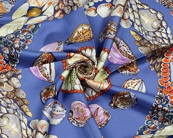 "HERMES SCARF Silk ""Rocaille"" by Valerie Dawlat Dumoulin Vintage 90cm Carre 100% Auth"
