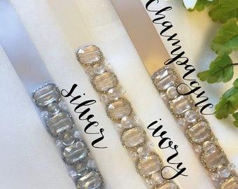 Crystal Vintage Inspired Beaded Sash
