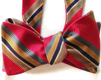 Silk Bow Tie for Men - Pizzazz - One-of-a-Kind, Handcrafted, Self-tie - Free Shipping