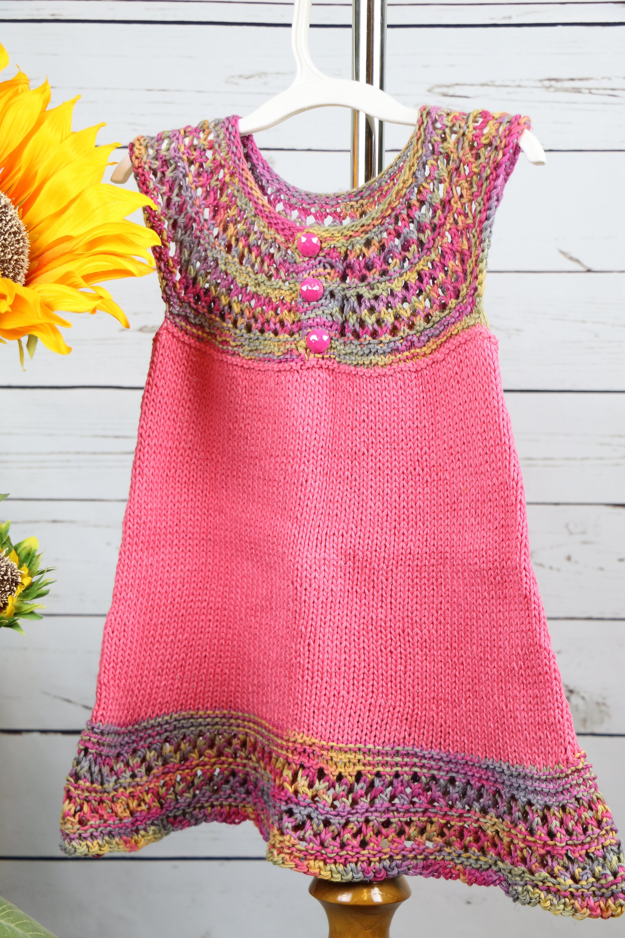 Bright pink toddler cotton dress colorful summer dress little girl bright pink toddler cotton dress colorful summer dress little girl dress mightylinksfo