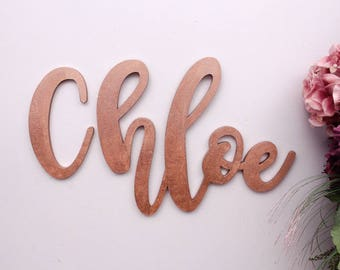 Wooden Letters, Baby Nursery Wall Hanging Letters in Script Font, Baby Name Sign, Kids Room Decor, Wedding Letters Decor, Wood Letters