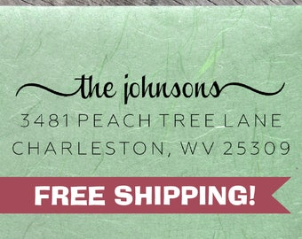 Custom Return Address Stamp, Johnsons Address Stamp, Self-Inking Return Address Stamps, Housewarming Gift Stamp