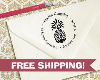 Custom Pineapple Address Stamp, Pineapple Return Address Stamp
